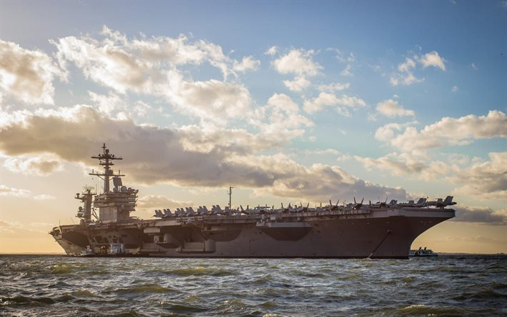 American aircraft carrier, USS George HW Bush, CVN-77, USS Navy, Nimitz