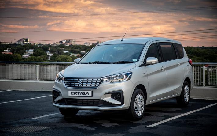 Download Wallpapers Suzuki Ertiga 4k Minivans 2019 Cars Parking