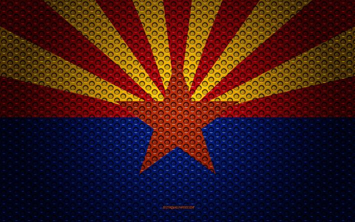 Download Wallpapers Flag Of Arizona 4k American State