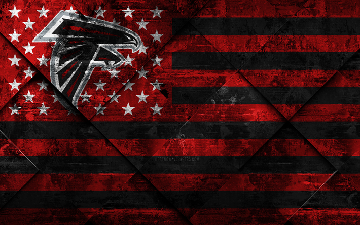 Download wallpapers Atlanta Falcons, 4k
