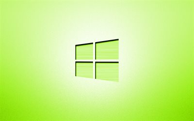 4k, Windows 10 lime logo, creative, lime backgrounds, minimalism, operating systems, Windows 10 logo, artwork, Windows 10