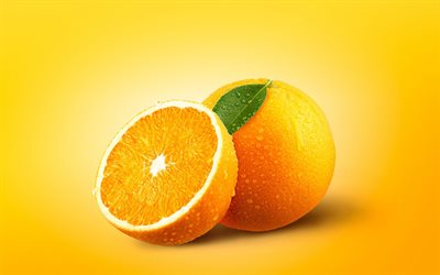 oranges, 4k, fresh fruit, citruses, minimal, fruits