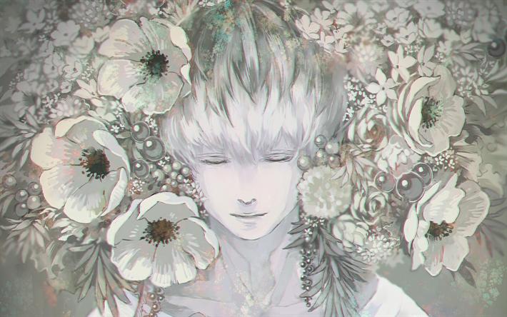 Download Wallpapers Haise Sasaki Flowers Manga Artwork