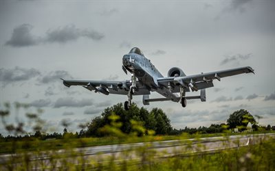 Fairchild Republic A-10 Thunderbolt II, American attack aircraft, military aviation, US Air Force