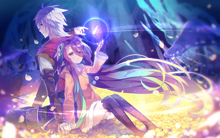 Download Wallpapers Riku Dola Shuvi Dola Manga No Game No Life