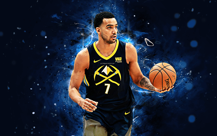 Download Wallpapers 4k Trey Lyles Abstract Art Basketball Stars Nba Denver Nuggets Lyles Basketball Neon Lights Creative For Desktop Free Pictures For Desktop Free