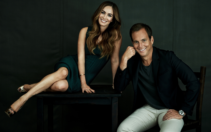 Megan Fox, Will Arnett, TMNT Promo photoshoot, Amerikkalainen toimijoiden, Hollywood, William Emerson Arnett