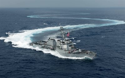 USS William P Lawrence, DDG-110, American warship, destroyer, US Navy, ocean, Arleigh Burke-class guided missile destroyer
