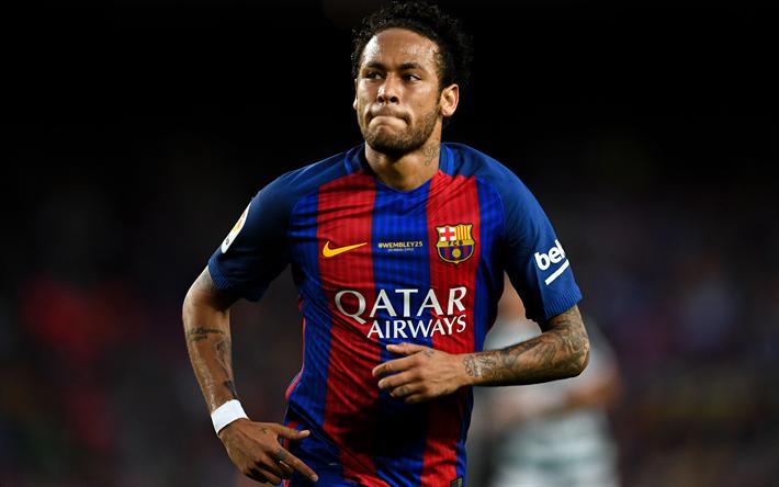 Download Wallpapers 4k Neymar 2017 Barca Neymar Jr Fc