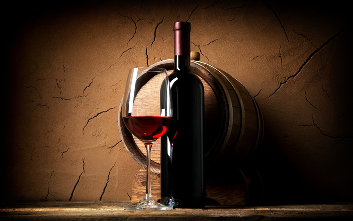 herunterladen hintergrundbild rotwein einem glas wein flasche wein trauben f r desktop. Black Bedroom Furniture Sets. Home Design Ideas