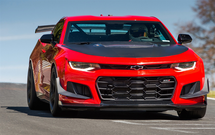 Download Wallpapers Chevrolet Camaro Zl1 1le 2017 Cars