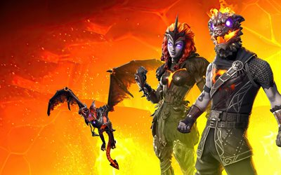 Fortnite, 2020, Battle Hound, Arachne, poster, characters, dragon, Fortnite characters
