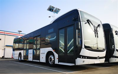 BYD K7, exterior, front view, electric bus, electric vehicle, buses, BYD