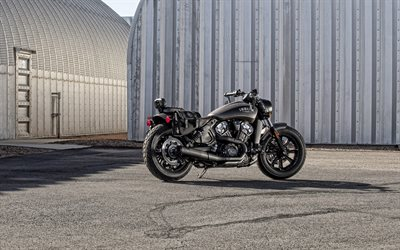 INDIAN Scout Bobber Bronze Smoke, 2020, Bobber, exterior, black motorcycles, american motorcycle, Indian