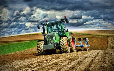 Fendt 516 Vario, 4k, 2020 tractors, plowing field, agricultural machinery, HDR, tractor in the field, agriculture, Fendt