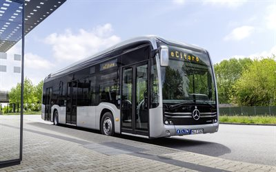 Mercedes-Benz eCitaro, 2020, exterior, front view, electric bus, new electric Citaro, german buses, Mercedes