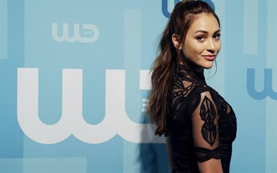 Lindsey Morgan, american actress, portrait, black dress, photoshoot, beautiful woman