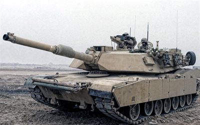 M1A1 Abrams, US main battle tank, M1 Abrams, armored vehicles, tanks, USA