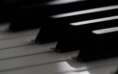 piano keys, monochrome, piano background, playing piano, musical instruments, piano