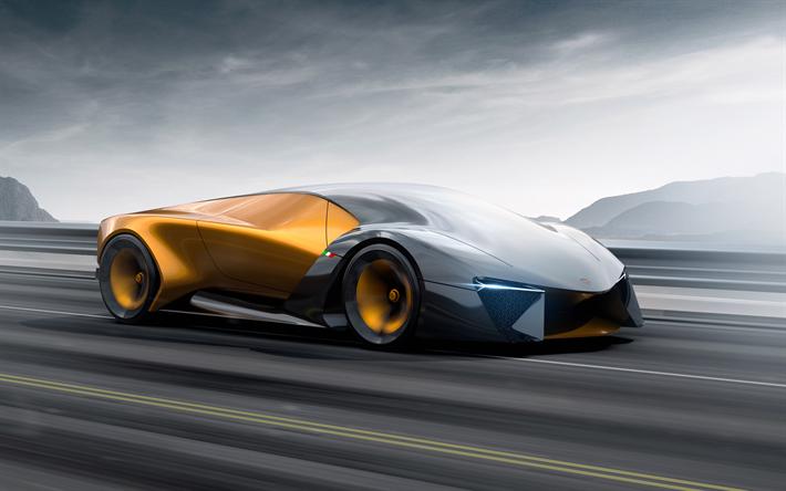 Download Wallpapers Lamborghini Terzo Millennio Road 4k Hypercars