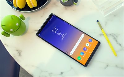 Samsung Galaxy Note 9, 4k, smartphone, modern devices, Android 8, Samsung