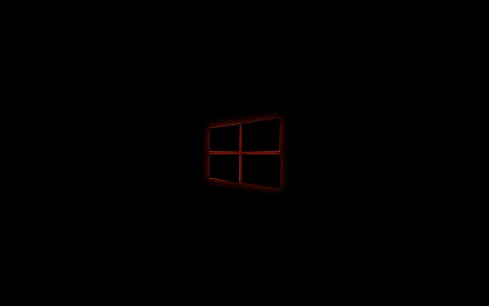 Sfondo desktop nero windows 10