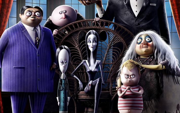Download Wallpapers The Addams Family 2019 Poster