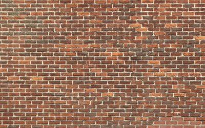 brown brickwall, macro, brown bricks, bricks textures, brown brick wall, bricks, wall, identical bricks, brown bricks background
