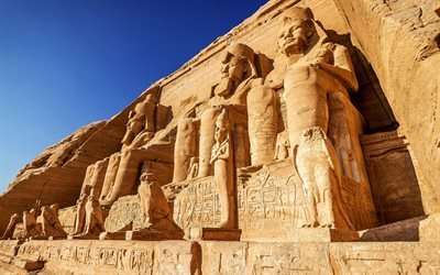 Abu Simbel, rock, Nubia, Egypt, Ancient, Egypt landmarks