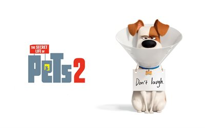 Max, 4k, cartoon dog, The Secret Life of Pets 2, poster, 2019 movie