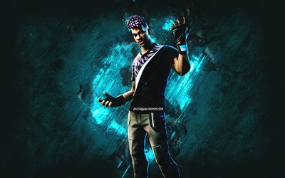 Fortnite Fade Skin, Fortnite, main characters, blue stone background, Fade, Fortnite skins, Fade Skin, Fade Fortnite, Fortnite characters