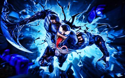 Venom Skin, 4k, artwork, Fortnite Battle Royale, canavarlar, Fortnite karakterleri, Venom, Fortnite, Venom Fortnite
