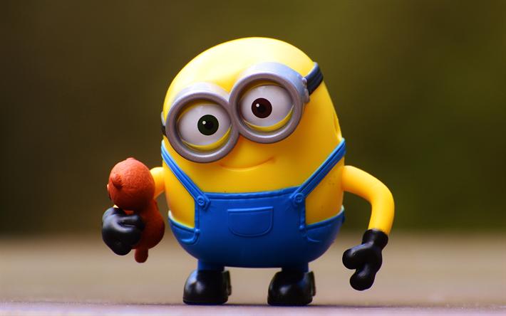 scarica sfondi minion 4k giocattoli minion cattivissimo