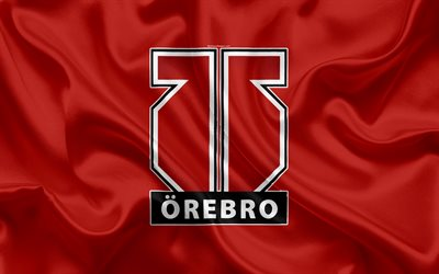 Orebro Hockey, Swedish hockey club, 4k, emblem, logo, Swedish Hockey League, SHL, hockey, Orebro, Sweden