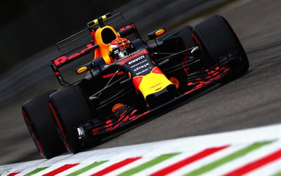 Daniel Ricciardo, Formula One, F1, raceway, Red Bull RB13, 2017 cars, Formula 1, Red Bull Racing