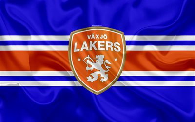 Vaxjo Lakers HC, Swedish hockey club, 4k, emblem, logo, Swedish Hockey League, SHL, hockey, Växjö, Sweden