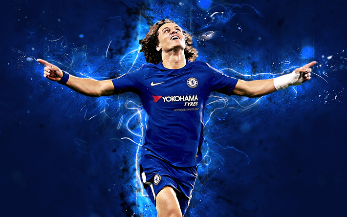 Download Wallpapers David Luiz, Goal, Brazilian