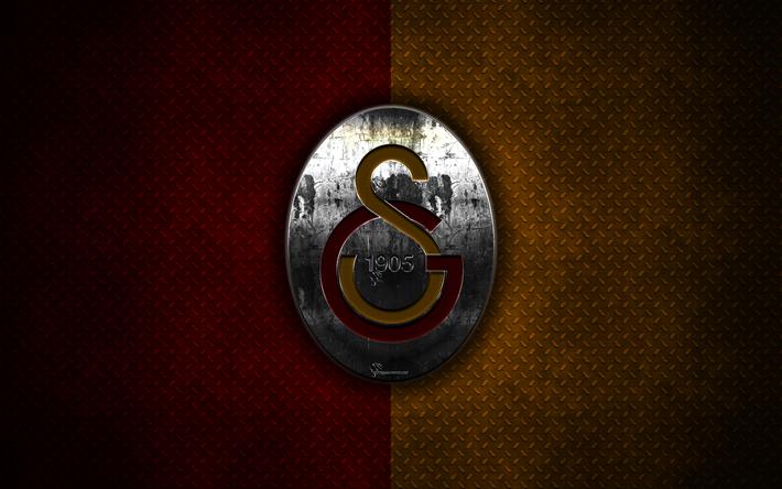 Download Wallpapers Galatasaray Sk 4k Metal Logo Creative