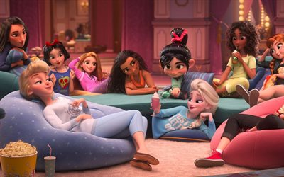 Ralph Breaks the Internet, 2018, Ralph 2, female characters, promo, poster, new cartoons