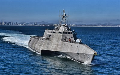 USS Montgomery, 4k, LCS-8, littoral combat ships, United States Navy, US army, battleship, LCS, US Navy, Independence-class