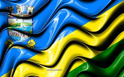 Aguas Lindas de Goias Flag, 4k, Cities of Brazil, South America, Flag of Aguas Lindas de Goias, 3D art, Aguas Lindas de Goias, Brazilian cities, Aguas Lindas de Goias 3D flag, Brazil