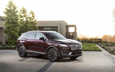 2019, Lincoln Nautilus Black Label, exterior, front view, luxury crossover, new burgundy Nautilus, american cars, Lincoln