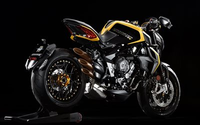 MV Agusta Dragster 800 RR, 2019, sports bike, exterior, new black and yellow Dragster 800 RR, MV Agusta