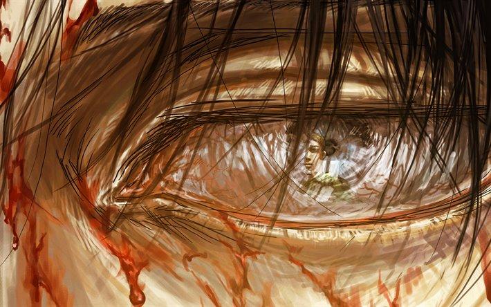 Download Wallpapers Erwin Smith Levi Ackerman Eye Artwork Attack On Titan Levi Ackerman Manga Shingeki No Kyojin For Desktop Free Pictures For Desktop Free