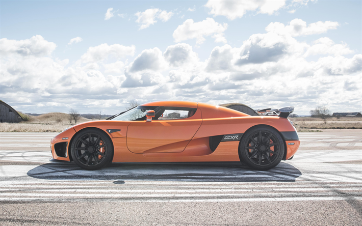 Koenigsegg CCXR, 2017, 4k, Supercar, Ecological Version CCXR, Side View,