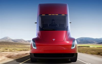 Tesla Semi Truck, trucks, 2018 truck, electric truck, road, Tesla