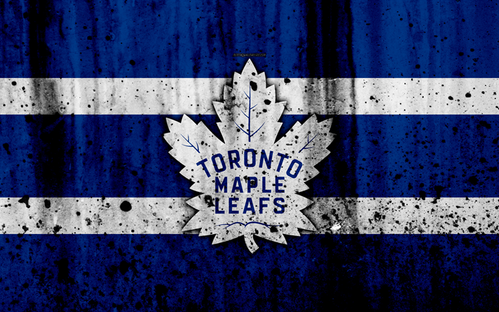 Download Wallpapers 4k Toronto Maple Leafs Grunge Nhl Hockey Art Eastern Conference Usa Logo Stone Texture Atlantic Division For Desktop Free Pictures For Desktop Free