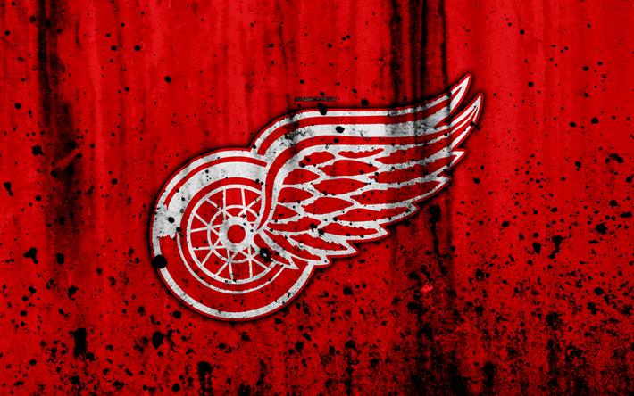 4k Detroit Red Wings Grunge NHL Hockey Art Eastern Conference