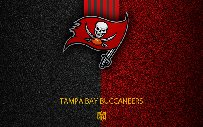 Tampa Bay Buccaneers 4k American Football Logo Leather Texture