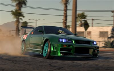 Need For Speed Payback, 4k, Nissan Skyline, 2017 spel, NFSP, autosimulator, Need For Speed